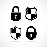 Security lock vector icon. S set Royalty Free Stock Images