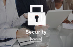 Security Lock Website Online Privacy Concept Royalty Free Stock Photos