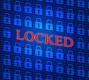 Security Locked Shows Privacy Secure And Private Royalty Free Stock Photo