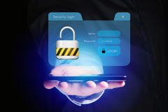 Security login window displayed on a futuristic interface - Conn Royalty Free Stock Photography