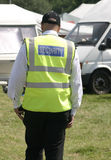 Security man. Man wearing his security jacket at a show Stock Images