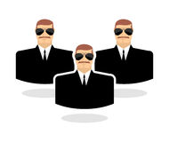 Security man Icon.  Stock Photography