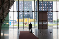 Security man at Made expo 2013 in Milan, Italy Stock Image