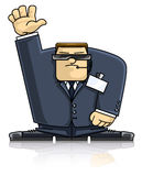 Security man in suit and goggles Royalty Free Stock Photography