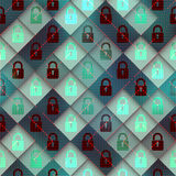 Security matrix pattern Stock Image