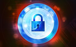 Security measures to prevent cyber attacks, image illustration. Royalty Free Stock Image