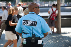 Security at 9/11 memorial Royalty Free Stock Photos