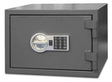 Security metal safe with digital code royalty free stock images