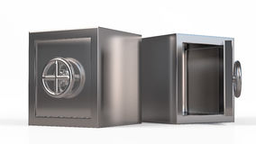 Security metal safe with empty space inside.  Royalty Free Stock Photo