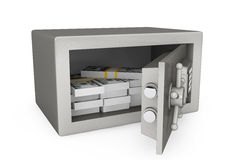 Security metal safe with money Stock Images