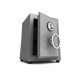 Security metal safe on white background Stock Photo