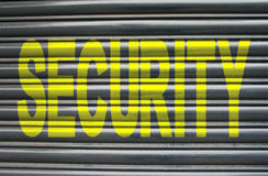 Security on metal shutters Stock Photos