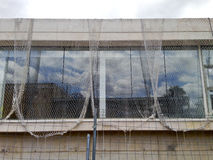 Security net for a building at construction Royalty Free Stock Photography