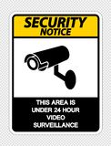 symbol Security notice This Area is Under 24 Hour Video Surveillance Sign on transparent background,Vector illustration vector illustration