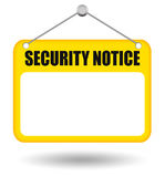 Security notice board Royalty Free Stock Images