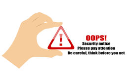 Security notice icon Stock Images