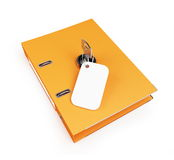 Security office folders. On a white background Royalty Free Stock Photo