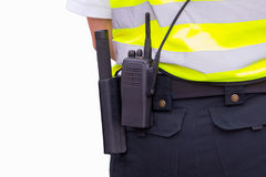 Security Officer. Closeup photograph of a security officer belt Royalty Free Stock Image