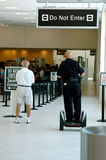 Security officer at airport Stock Photos