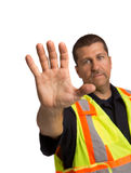 Security Officer Directing Isolated Stock Photography