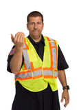 Security Officer Directing Isolated Royalty Free Stock Photos
