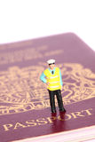 Security officer passport B Royalty Free Stock Photography