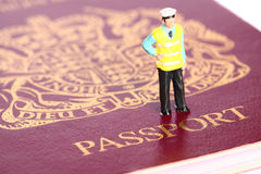 Security officer passport C Stock Images