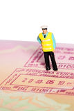 Security officer passport E Stock Image