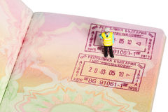 Security officer passport F Stock Image