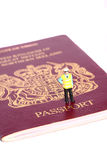 Security officer passport A Stock Image