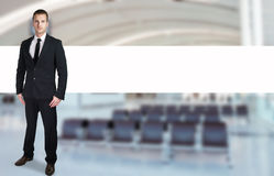 Security officer standing in an airport Royalty Free Stock Photos