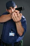 Security Officer Takes Aim Stock Images
