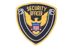 Security officer uniform shoulder patch Royalty Free Stock Images
