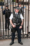 Security officers in front of the Downing Street 1