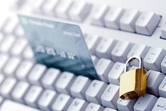Security of online bank or shopping Royalty Free Stock Photo