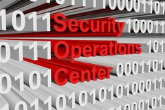 Security operations center. In the form of binary code, 3D illustration Royalty Free Stock Photography