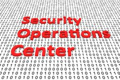 Security operations center. In the form of binary code, 3D illustration Stock Photo