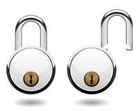 Security Pad Lock Vector Royalty Free Stock Image