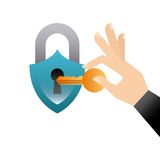 Security padlock icon Stock Images