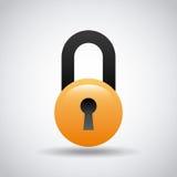 Security padlock icon Stock Image