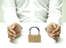 Security with a Padlock Royalty Free Stock Photography
