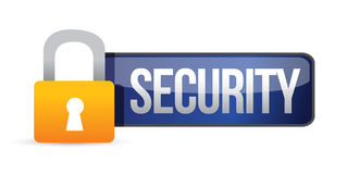 Security panel with padlock and text Royalty Free Stock Photo