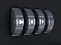Security password combination. 3d illlustration Royalty Free Stock Photography