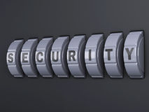 Security password combination. 3d illlustration Royalty Free Stock Image