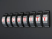 Security password combination. 3d illlustration Stock Photo