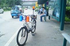 Security patrol bicycle Stock Photos
