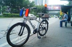 Security patrol bicycle Stock Photo
