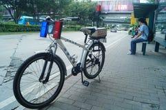 Security patrol bicycle Royalty Free Stock Image