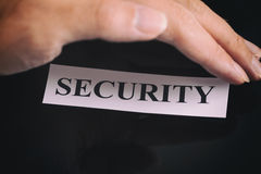 Security of personal data Stock Image