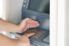 Security pin atm Royalty Free Stock Photo